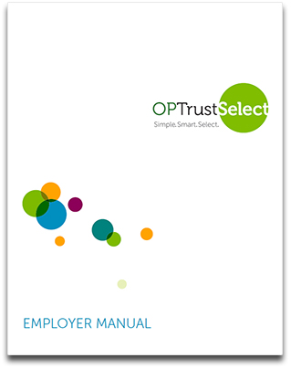 OPTrust Select Employer manual cover